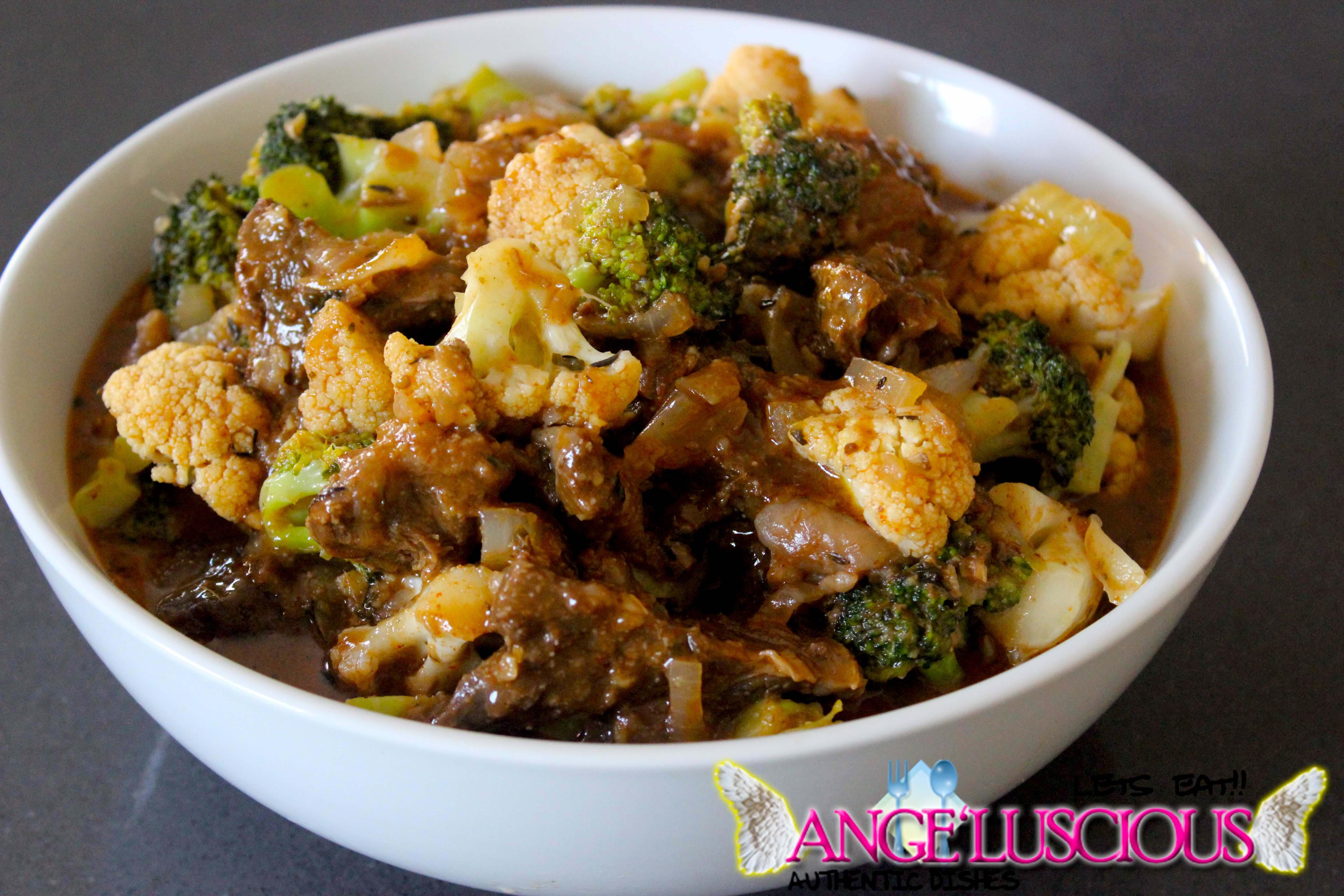 Braised Beef Chuck Roast with Broccoli and Cauliflower - Angeluscious