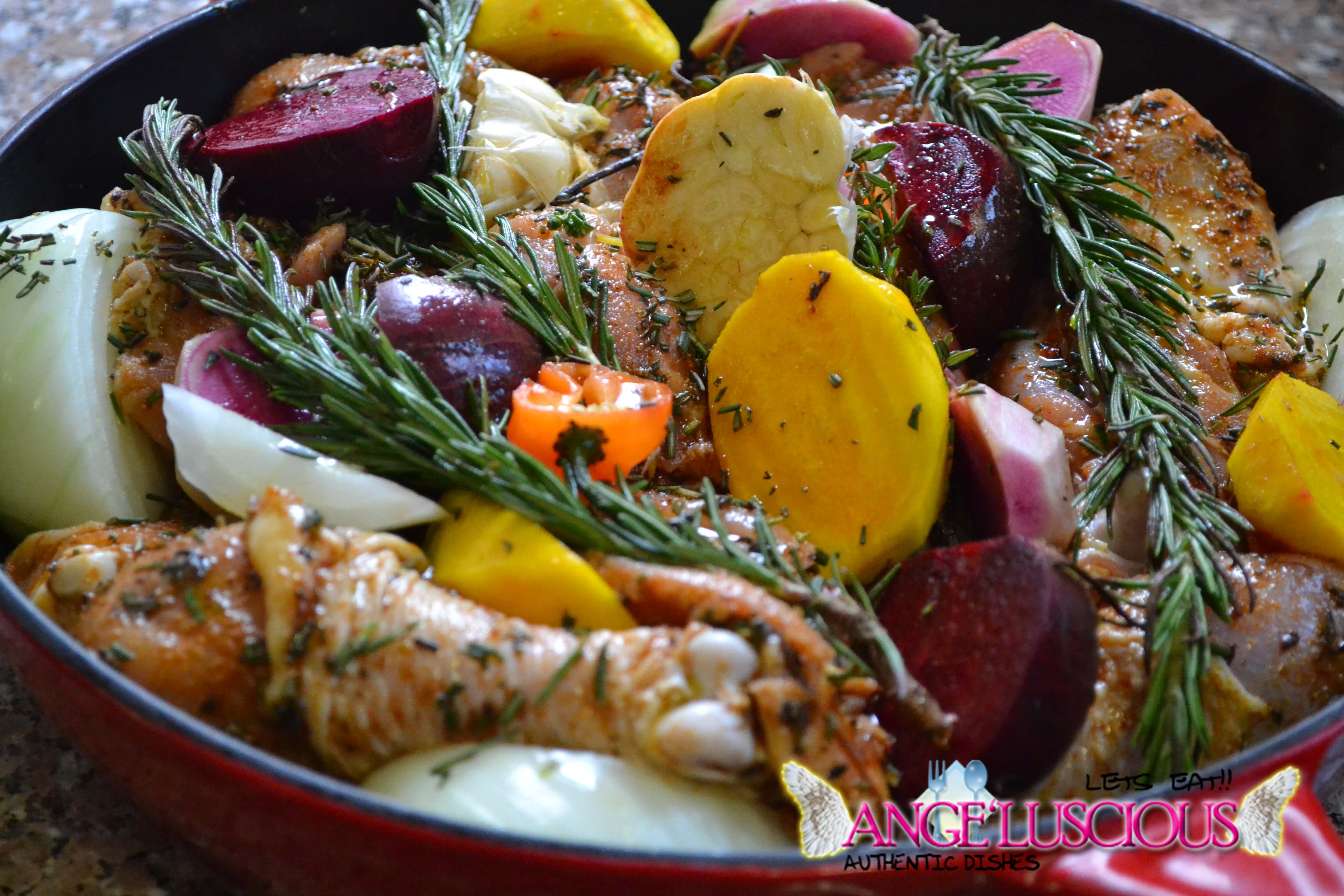 roasted chicken with golden beets, purple beets and watermelon radishDSC_9900