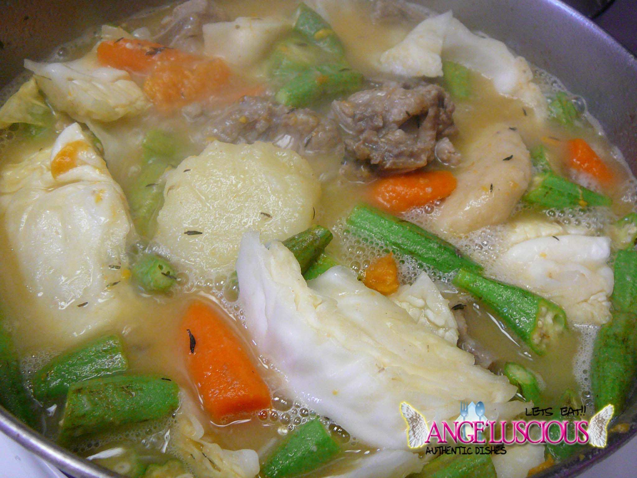 Not your average cabbage soup angeluscious for Jamaican fish soup recipe