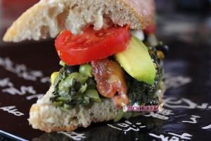 Callaloo, Avocado, Tomato Sandwich