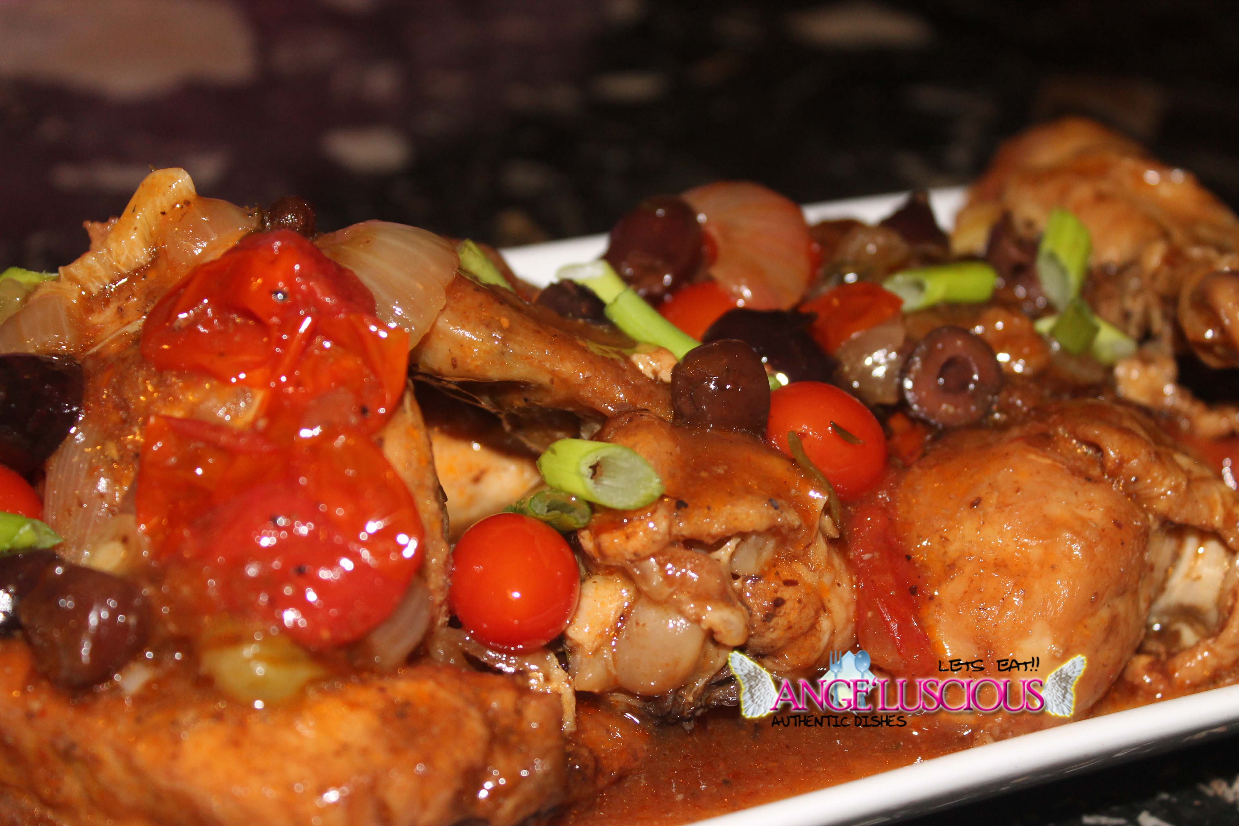 Stewed Chicken with Kalamata Olives and Tomatoes - Angeluscious