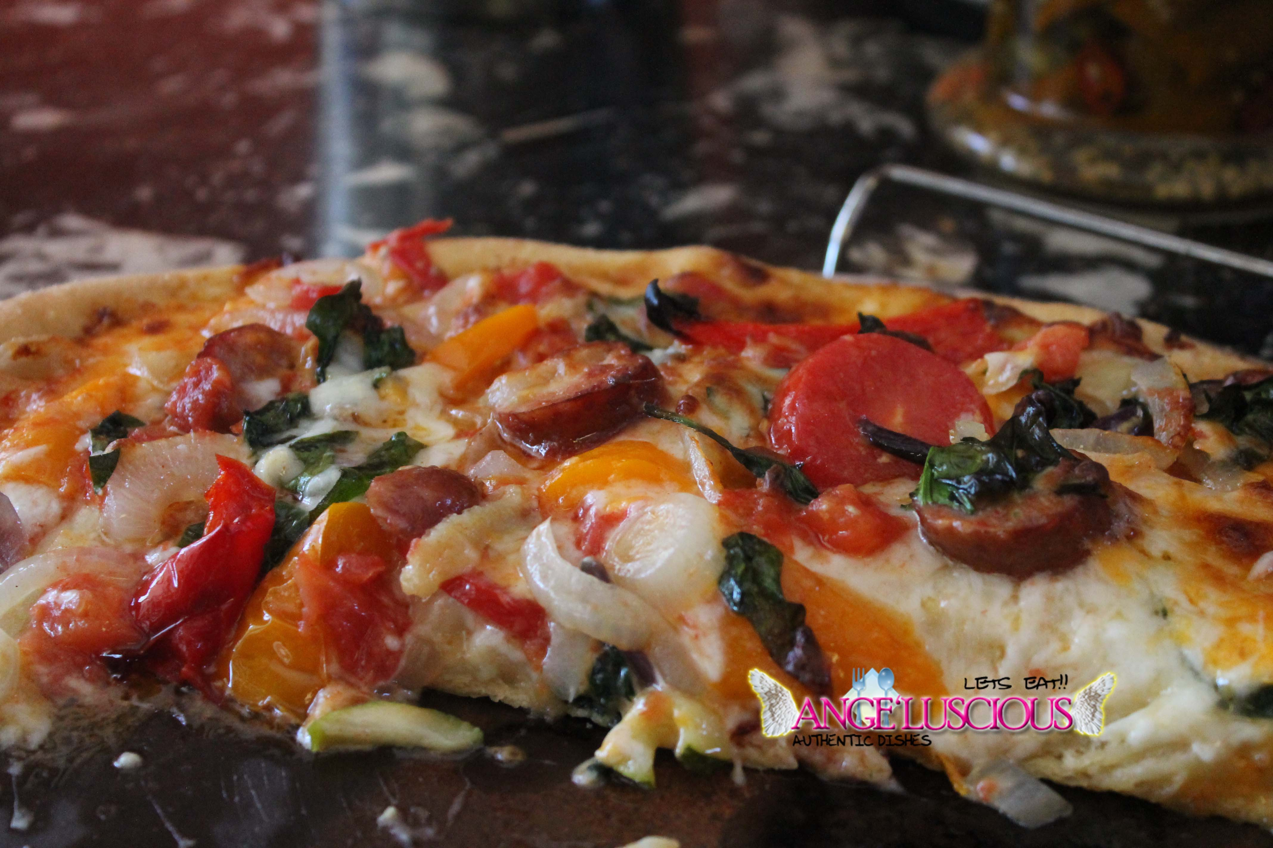 Sausage and Vegetable Pizza
