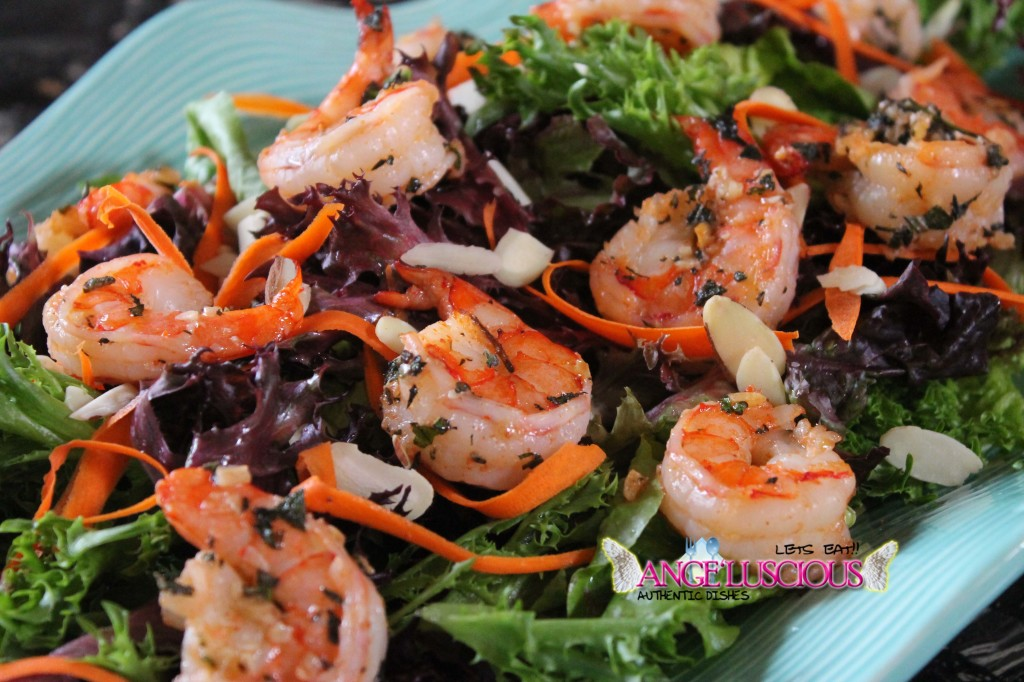 Erotic salad with shrimps