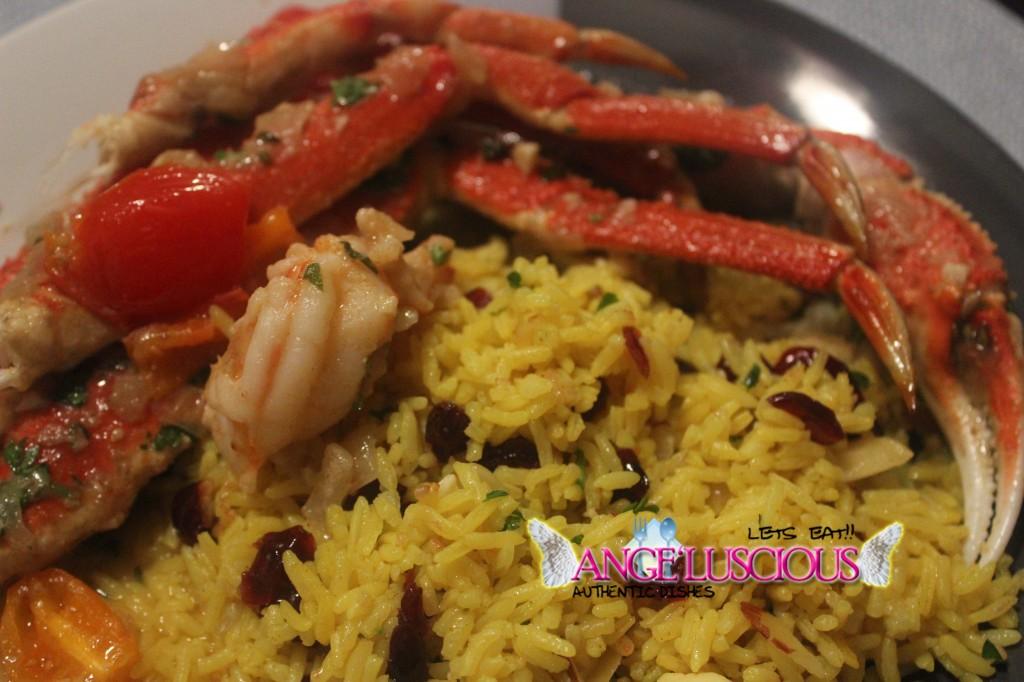Snow Crab legs dinner plate