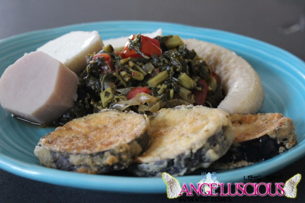 callaloo with fried eggplant IMG_9777